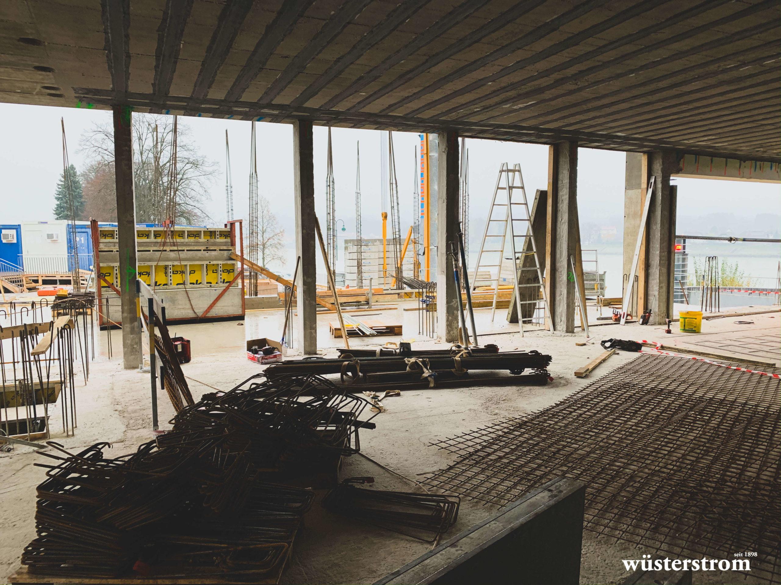 Baufortschritt Stadthalle Ybbs
